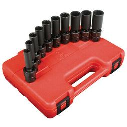 Sunex Tools 3660 10-Piece 3/8 in. Drive Metric Universal Dee