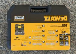 "NEW DEWALT DWMT73801 108 PIECE 1/4"" & 3/8"" DRIVE SOCKET TOOL"