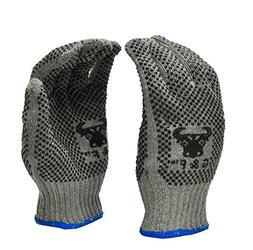 G & F 14431M-DZ Natural Cotton Work Gloves with Double-Side