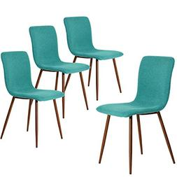 Coavas Set of 4 Dining Chairs Fabric Cushion Kitchen Chairs