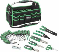 Electricians Commercial Tool Set Bag Wire Cable Stripper Pli