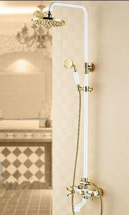 GOWE Euro Style White Painting Baked Bathroom Shower Faucet