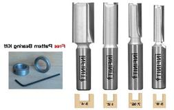 4-Pc. Extra Long Straight Router Bit Set