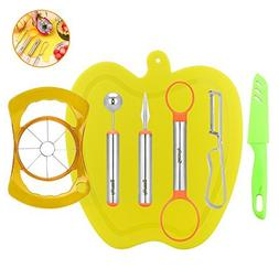7-in-1 Fruit Tools Set, Security  Stainless Steel DIY Fruit