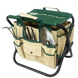 Wings and Water 7 Piece Garden Tool Set, All-In-One Tool Bag