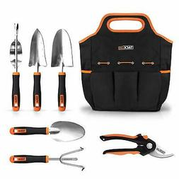 garden tools set, 7 piece stainless steel heavy duty gardeni