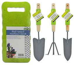 Gardening Tools Set With Comfort Grip Handles and Cushioning
