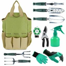 Gardening Tools Set, Organizer Tote Bag with 10Piece Garden