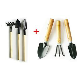 Gardening Tools Sets Spade Shovel Rake for Garden Plants Car