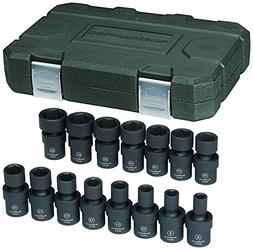 GearWrench 84918 3/8-Inch Drive Universal Impact Socket Set
