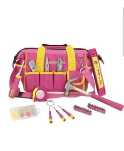 Geat Neck 21043 Around the House Utility Pink Tool Set + Sto