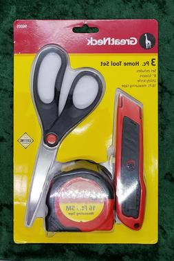 Great Neck Hand Tools 3 Piece Tool Set Scissors Utility Knif