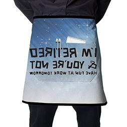 XiHuan Grill Aprons Kitchen Chef Bib I'm Retired You're Not