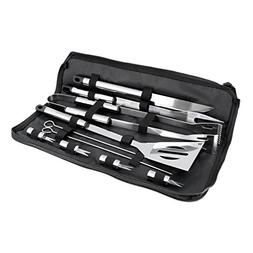 BBQ Masters 11 Piece Professional BBQ Grill Tool Set with St