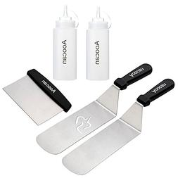 Aoocan Griddle Accessories Set, 5 Piece Stainless Steel Grid