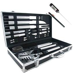 TeiKis 19-Piece Grilling Accessories BBQ Tool Set Stainless