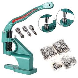 Hand Press Heavy Duty Grommet Machine with 3 Dies  and 1500