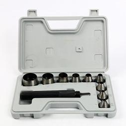 Heavy Duty Hollow Punch Kit With Case Tool Set Gasket Leathe