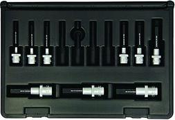 """Hex Bit Socket Set, 9 Piece, 3/8"""" And 1/2"""" Drive, 5/32"""" To 5"""