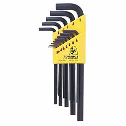 Hex L-Wrench Key Sets, 13 per holder, Hex Tip, Inch