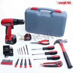 household kit including cordless drill