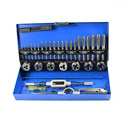 32 PCS HSS Tap and Die Set Metric M3 - M12 Hand Threading To