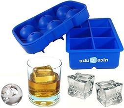 niceCube Large Ice Cube Tray and Ice Ball Maker, Great for W