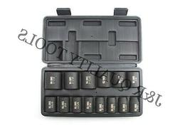 """1/2"""" Inch Dr Drive Sae Black Impact Socket Wrench Tool Set F"""