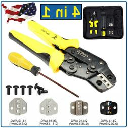 Insulated Cable Ratcheting Wire Terminal Crimpers Crimping P