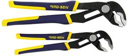 IRWIN VISE-GRIP 2Pc GrooveLock Pliers Set V-Jaw Channel Lock