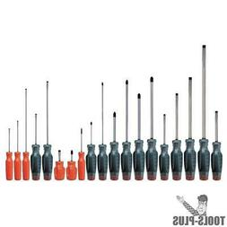 PROTO J1219SC Screwdriver Set, Ph, Cab, Keystone,19 Pc