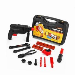 Kids Boys Toys Tool Sets Play Toolbox with Cordless Drill Po