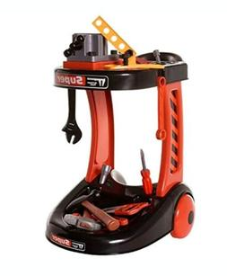 Ivation Kids Construction Tool Trolley - Includes Pretend To