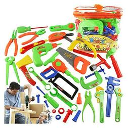 Kids Play Pretend Toy Tool Set Workbench Construction Worksh