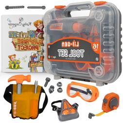 Kids Tool Set w Book - Pretend Play Toys for Boys & Girls Ag
