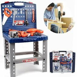 Kids Toy Tool Bench Work Set Play Pretend Workshop Toddler B