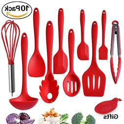 Kitchen Utensils, Silicone Heat-Resistant Non-Stick Kitchen