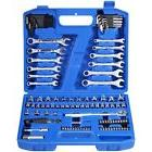 113 Piece 1/4-Inch 3/8-Inch Mechanics Tool Set Home Improvem