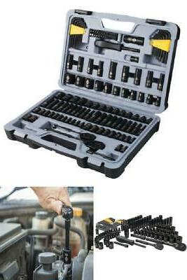 Stanley 123 Piece Mechanics Tool Set Standard SAE Metric Har