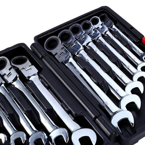 12pc Fixed/flexible Ratcheting Wrench Tool L