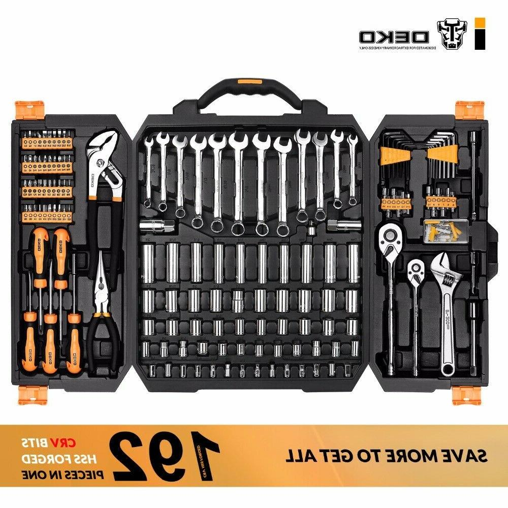 192 piece mechanics tool set socket wrench