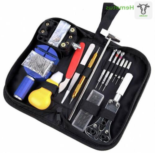 147 pcs watch repair tool kit case