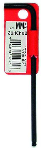 Bondhus 15760 4mm Ball End Tip Hex Key L-Wrench with ProGuar