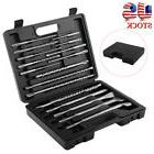 17pc Rotary Hammer Drill SDS+ Plus Bit Bits Chisel Groove Co
