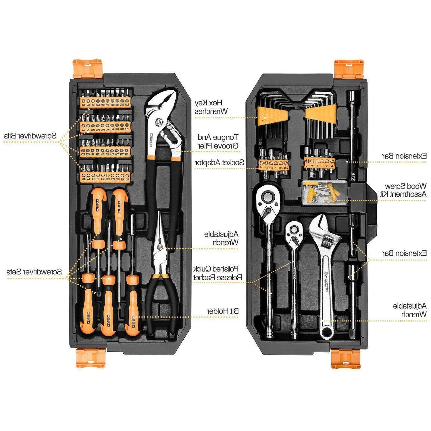 192 Set Socket Wrench Auto Repair Hand Tool Kit