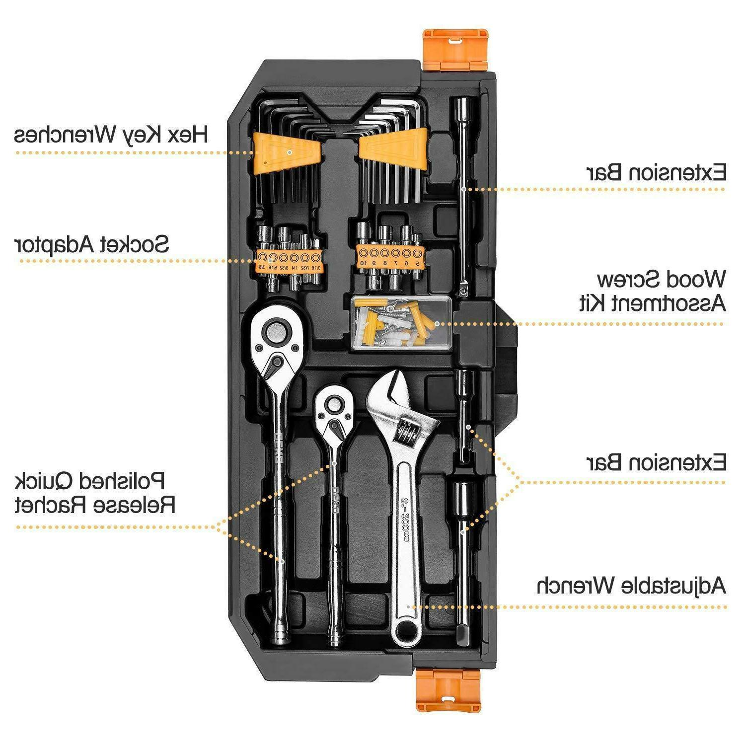 192 Piece Mechanics Set Set Auto Repair Hand Tool Kit