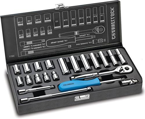 Channellock 32161 16 piece 1/2 Drive SAE Socket Set