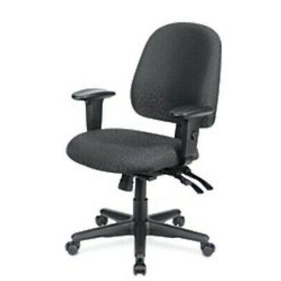 WorkPro 2000 Series Multifunction Fabric Mid-Back Chair, Bla