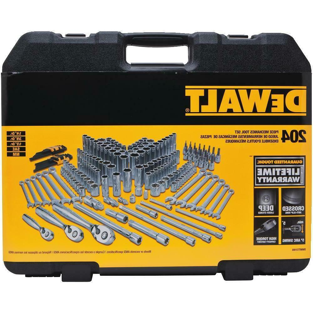 DEWALT 204 Piece Mechanics Tool Set PC Best