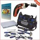 21 Pieces Kobalt Tool Set Bundle with Palm Sized Drill & 4V